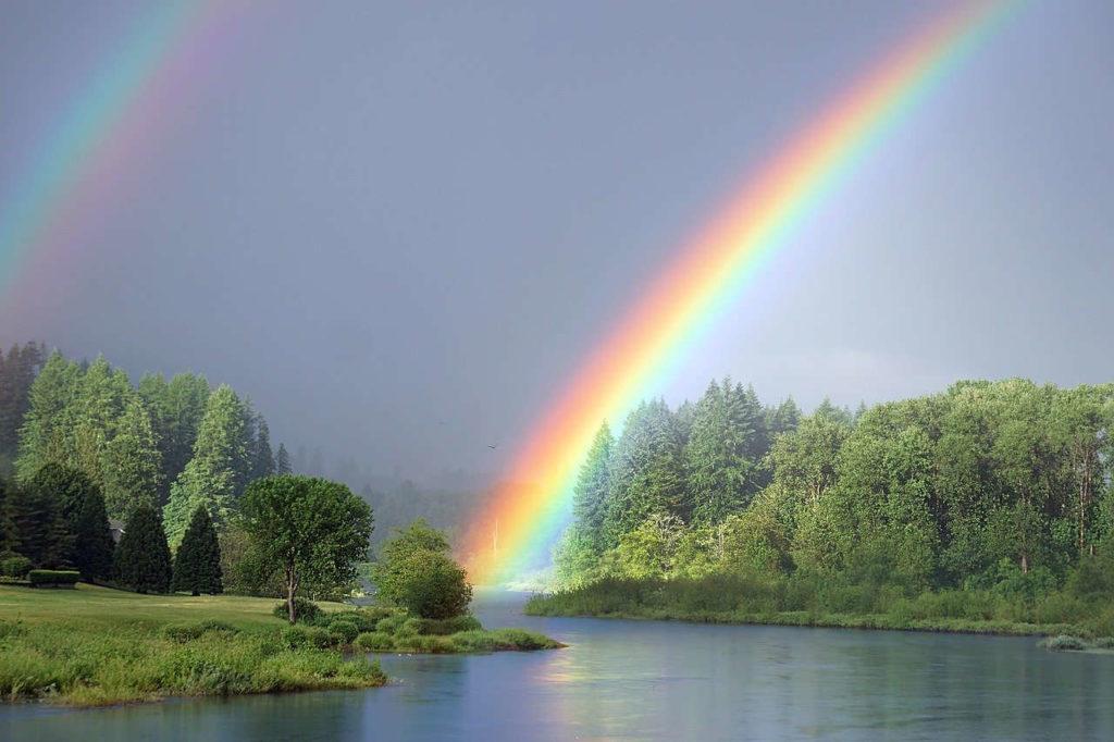 Regenbogen - gluecklich leben